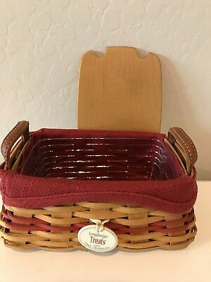 Longaberger 2002 Treats Tree Trimming Collection Basket Combo Red