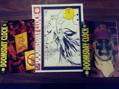 Doomsday Clock #1 Reg Edition & Lenticular 1St Print With Poster And Button