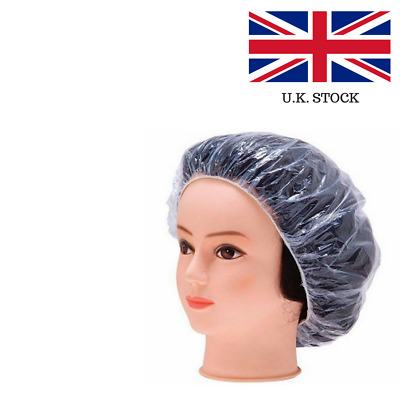 Disposable Shower Caps Bathing Elastic Clear Hair Care Protector Hat Mask Cap UK