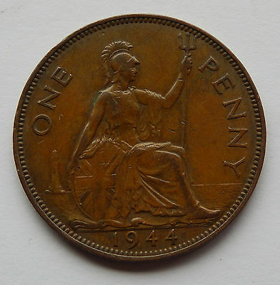 1944 UK / Great Britain One Penny Coin   SB4779