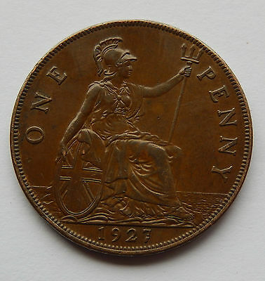1927 UK / Great Britain One Penny Coin   SB4778