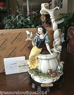 "Mint~Limited Edition Giuseppe Armani Disney""Snow White at the Wishing Well"" 199C"