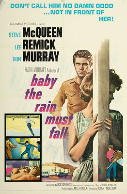 Baby the Rain Must Fall 1965 27x41 Orig Movie Poster FFF-02391 Fine, Very Good