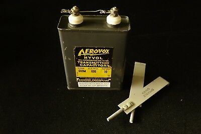 Aerovox 10uF 600VDC Oil Filled Capacitor Tube Amplifier Ham Radio - TESTED