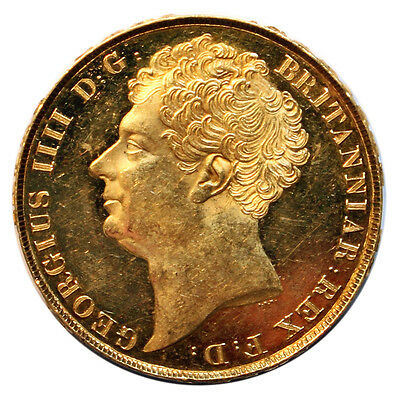 1823 Gold Twopound, George Iv (Possibly Struck Fromproof Dies)