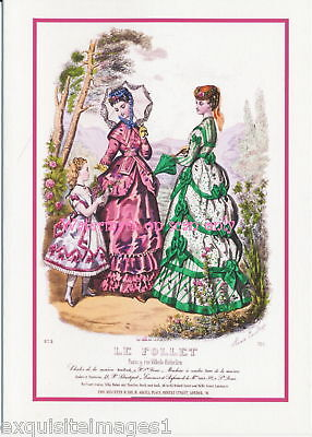 Le Follet~Antique Paris Fashion~ NEW Large Note Cards