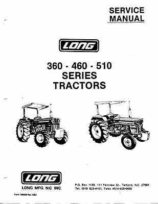 Fiat LONG 360 460 510 Service Manual, 210 pages PDF on CD & Sparex Parts book