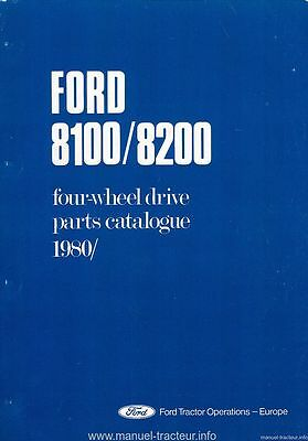 FORD 8200 8100 4wd Schindler Parts list and 14 pg 8100 supplement pdf on CD