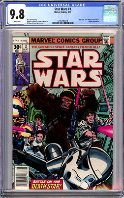 Star Wars #3 Cgc 9.8 White Pages First Print Marvel Movie 1977