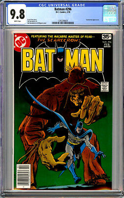 Batman #296 Cgc 9.8 White Pages Scarecrow 1978