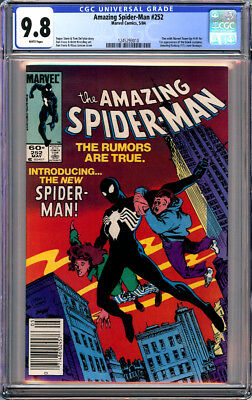 AMAZING SPIDER-MAN #252 CGC 9.8 WHITE PAGES NEWSSTAND 1st BLACK COSTUME 1984