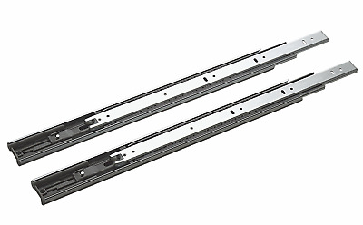 Side Mount Ball Bearing Telescope Drawer Slides / Slider  Full Extension 100-lb