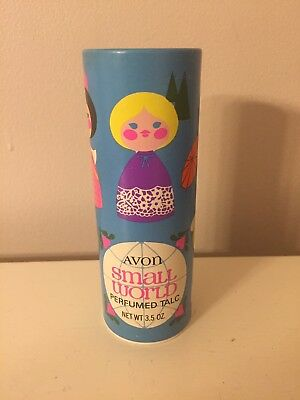 Vintage Avon Small World Perfumed Talc Powder