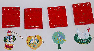 4 avon 12 days of christmas  ornaments