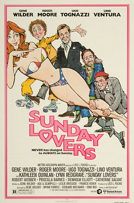 Sunday Lovers 1980 27x41 Orig Movie Poster FFF-06853 Near Mint Roger Moore