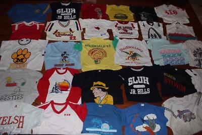 HUGE LOT 30 VINTAGE 80s ADULT T SHIRTS RINGER TEES DICK TRACY JEEP SNOOPY MEDIUM