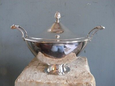ANTIQUE GERMAN SILVER COVERED BOWL by CHRISTIAN DRENTWERT - AUGSBURG circa 1780