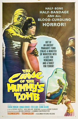 The Curse of the Mummy's Tomb 1964 27x41 Orig Movie Poster FFF-02978 Fred Clark