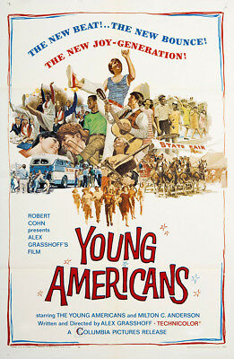 Young Americans 1967 27x41 Orig Movie Poster FFF-02665 Very Fine Diane Adams