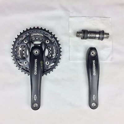 Shimano FC-M522 Crankset 42T/32T/24T with 68mm Bottom Bracket Crank Arms 175mm