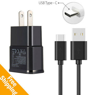 Wall Charger Adapter + Type C USB Cable for Samsung Galaxy S8 S8 Plus Note 8 USA