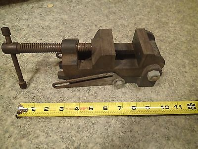 """Vintage Angle Tilt Machinist Drill Press Vise 2.5"""" Jaws Made in Japan"""
