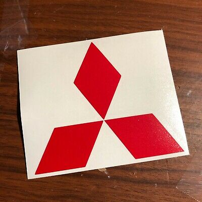 Mitsubishi Die Cut Decal | Emblem logo center cap stickers Evo Lancer