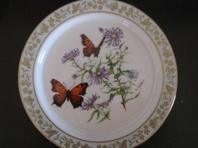 """Vintage 10-1/2"""" Lenox Collector Plate-""""Butterflies & Flowers-Limited Edition"""