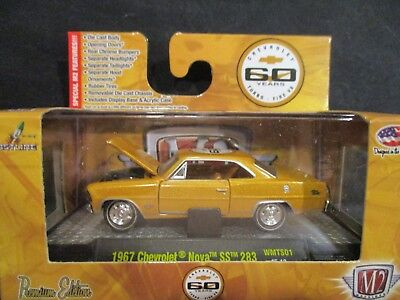 M2 1967 CHEVROLET NOVA SS 283 60 Years 1:64 MIB '55 CHEVY 32500