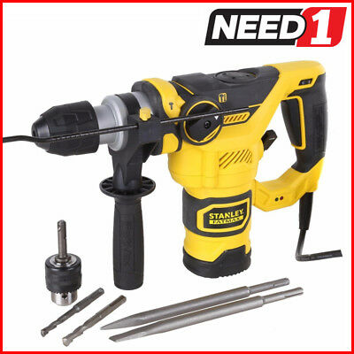 STANLEY FatMax 1250W SDS+ Rotary Hammer Drill 32mm Capacity, 3 Modes of Drilling