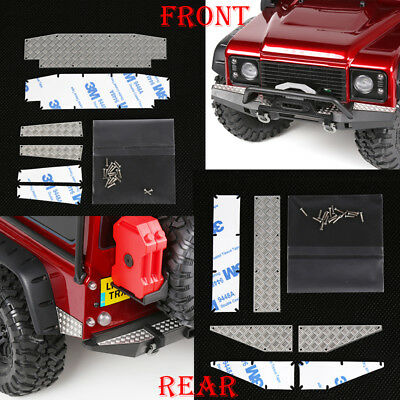 Stainless Steel Front / Rear Bumper Diamond Plate for RC Crawler Traxxas TRX-4