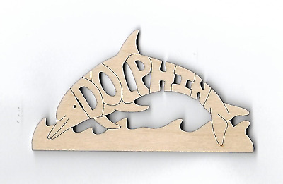 Dolphin laser cut and engraved wood Magnet