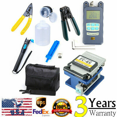 Fiber Optic FTTH Tool Kit with FC-6S Fiber Cleaver & Optical Power Meter Finder