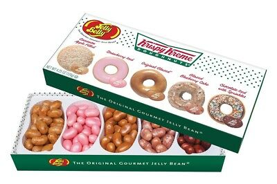 912674 Jelly Belly Krispy Kreme 4.25Oz Jelly Bean Gift Box 5 Delicious Flavours!