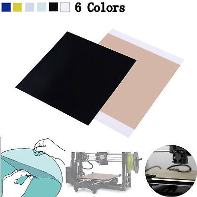 300x300x1mm ABS PLA PEI Sheet fr 3D Printing w/ 468MP Adhesive Tape 6 Colors Lot