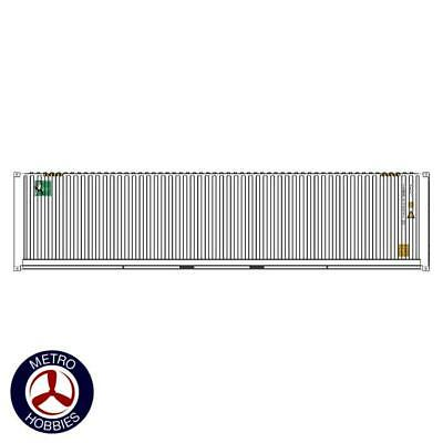Auscision HO CON-150 40ft Container Intermodal Solutions White V3 2pc AM11469 Br