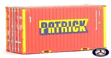 Auscision HO CON-2 20ft Hi-Cube Container Patrick w/Roof Hatch Twin Pack AM10034