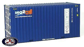 Auscision HO CON-11 20ft Hi-Cube Container Sea-2-Rail Twin Pack AM10163 Brand Ne