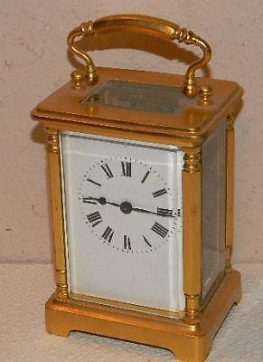"Antique Brass Carriage Clock 4 1/2"" Tall ***no Reserve"