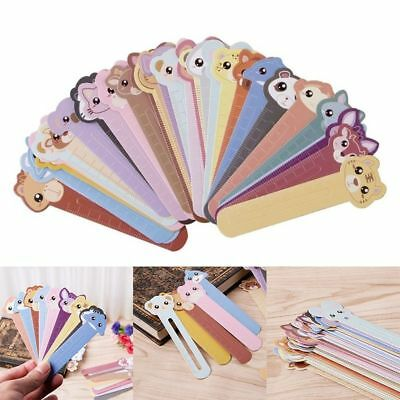 30Pcs Animal Paper Bookmarks Book Holder Stationery Kids School Supplie Gift