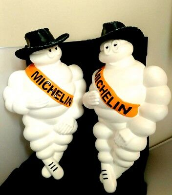 "New Limited 2X 17""hat Vintage Michelin Man Doll Figure Bibendum Advertise Tire"