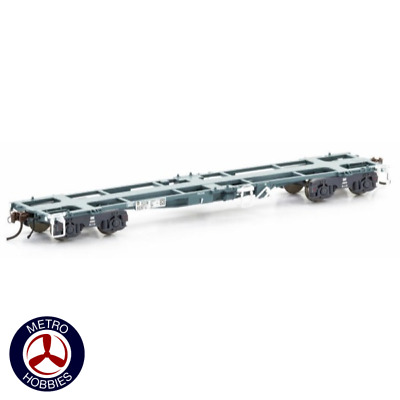 Auscision HO RQIW 45ft Container Wagon National Rail Blue/Grey 5 Car Pack AM1002
