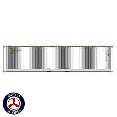 Auscision HO CON-133 40ft Container SCF Rail Containers White & Orange V2 2pc AM