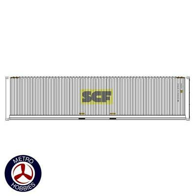 Auscision HO CON-134 40ft Container SCF White with Yellow & Grey Logo V1 2pc AM1