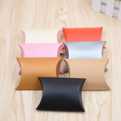 50pcs Pillow Paper Xmas Wedding Favors Baby Party Candy Bread Gift Bag