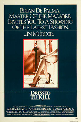 Dressed to Kill 1980 27x41 Orig Movie Poster Near Mint, Very Fine Michael Caine