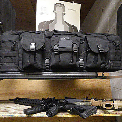 Humvee Double Gun Bag & Rifle Case Heavy Duty 600D Polyester Fabric W/ Expand...