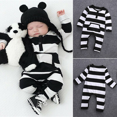 Baby Boy Girl Infant Romper Jumpsuit Bodysuit Cotton Clothes Outfit for 0-2Years