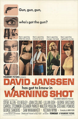 Warning Shot 1966 27x41 Orig Movie Poster FFF-17023 Fine Keenan Wynn