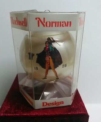 Norman Rockwell 1986 Christmas Ornament Dave Grossman 7th Limited Edition